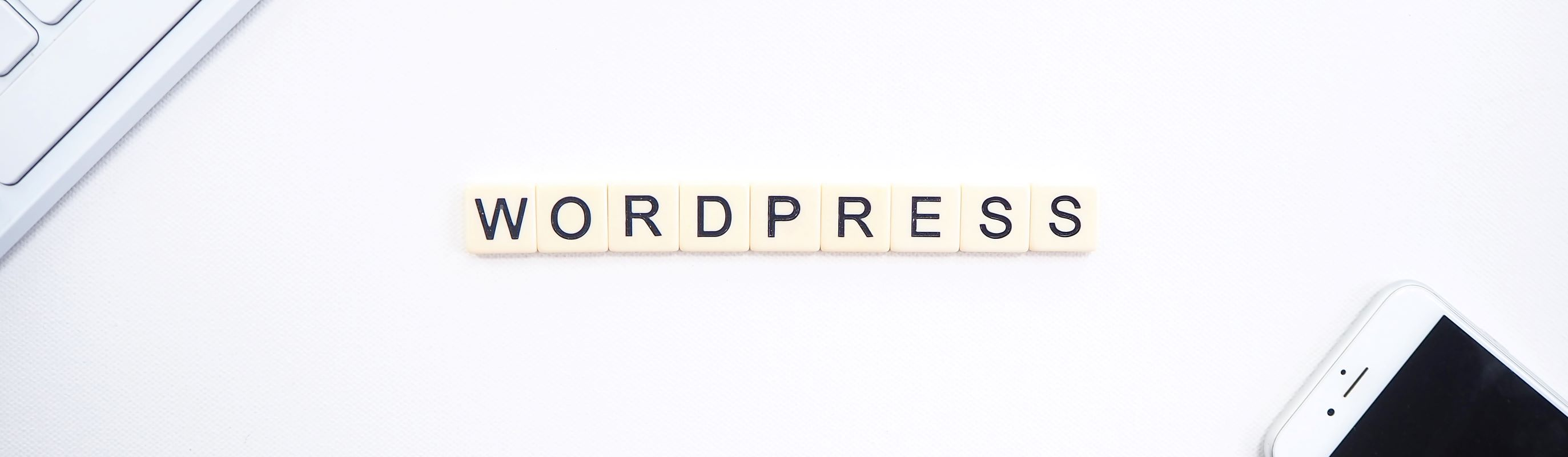 WordPress in Scrabble-letters