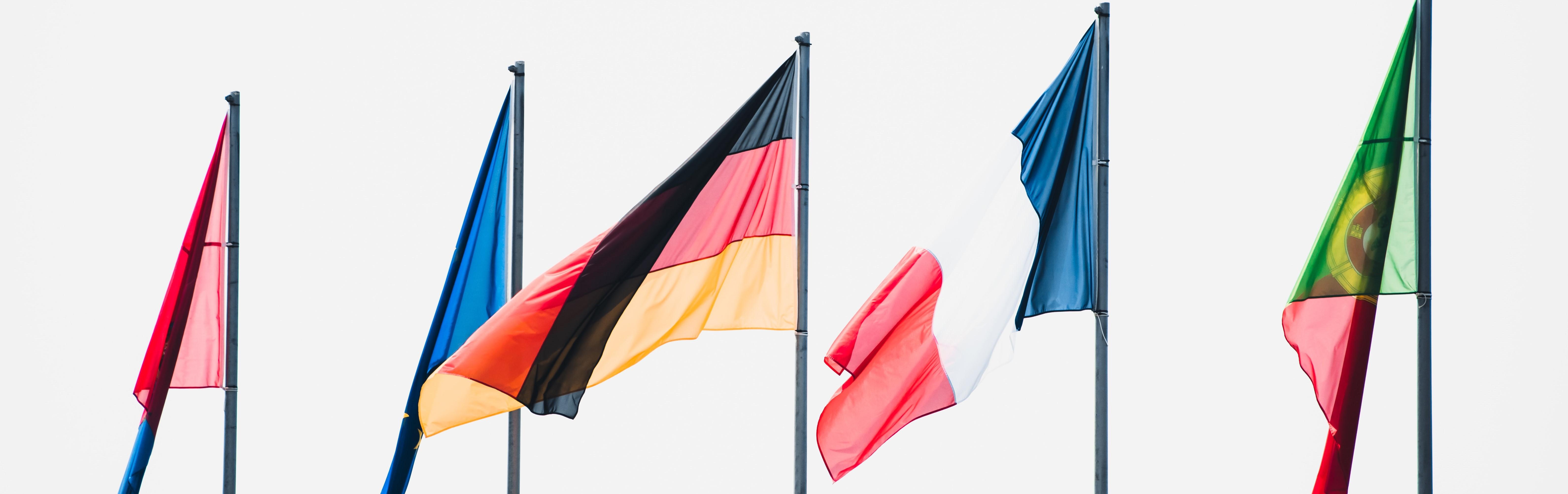 Vlaggen van verschillende landen